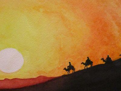 Tricia Duncan - Caravan - Watercolour