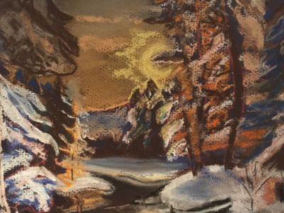 Fiona Knox - Winter Scene - Pastel