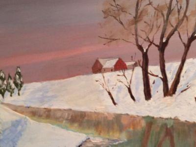 Douglas Orr - Acrylic - Winter Reflections