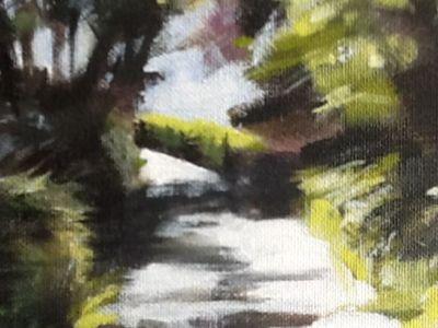 Lesley Wiseman-Orr - Acrylics - Summer light on lane, Baldernock - 1st Place