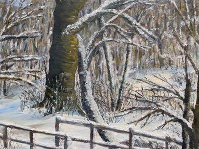 Sara James Windebank - Acrylic on Canvas - In Winter's Grip