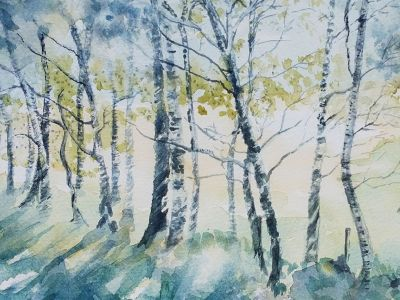 Denise Chateau-Loney - Watercolour - Strathkelvin Railway Path