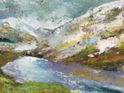Ailsa Jensen - Oil on board - Winter on The Rest and Be Thankful