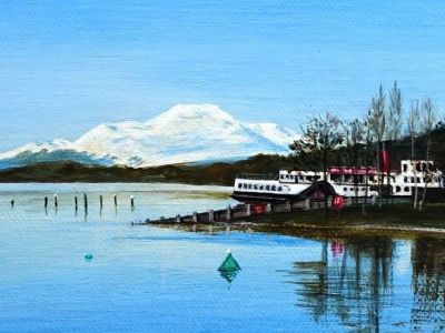 Ann Nevett - Acrylic - Ben Lomond and Maid of the Loch