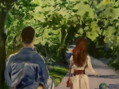Margie Kanaiah - Acrylics - A Summer Stroll in the Botanic Gardens
