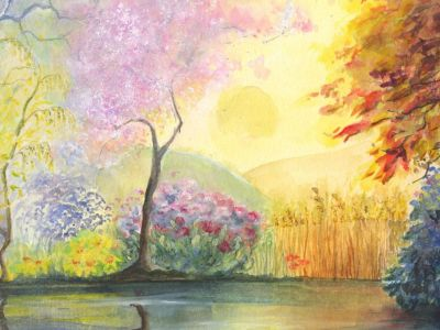 Gillian Kingslake - Watercolour - Celebration of the Four Seasons