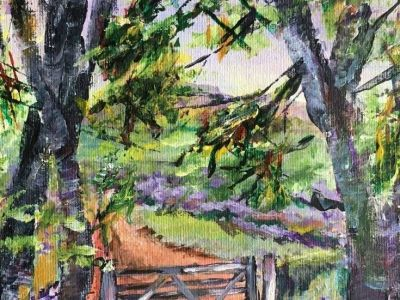Margaret Graham - Acrylic on Canvas - Summertime Beyond Baldernock