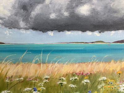 Jan Cormie - Oil - Storm approaching Harris