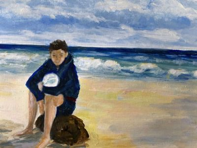 Noreen Simpson - Acrylic - Where is everyone - it's summer!