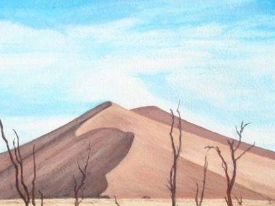 Margaret Lonsdale - Sand Dune, Namibia - Acrylic