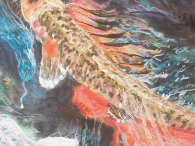 Ruth Boddie - Fish in a pool - Pastel