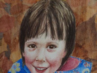 Morag Proven - My granddaughter - Watercolour