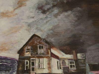 Moira May - The Very Old Farmhouse - Acrylic